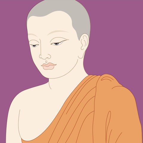 Drawing of a monk